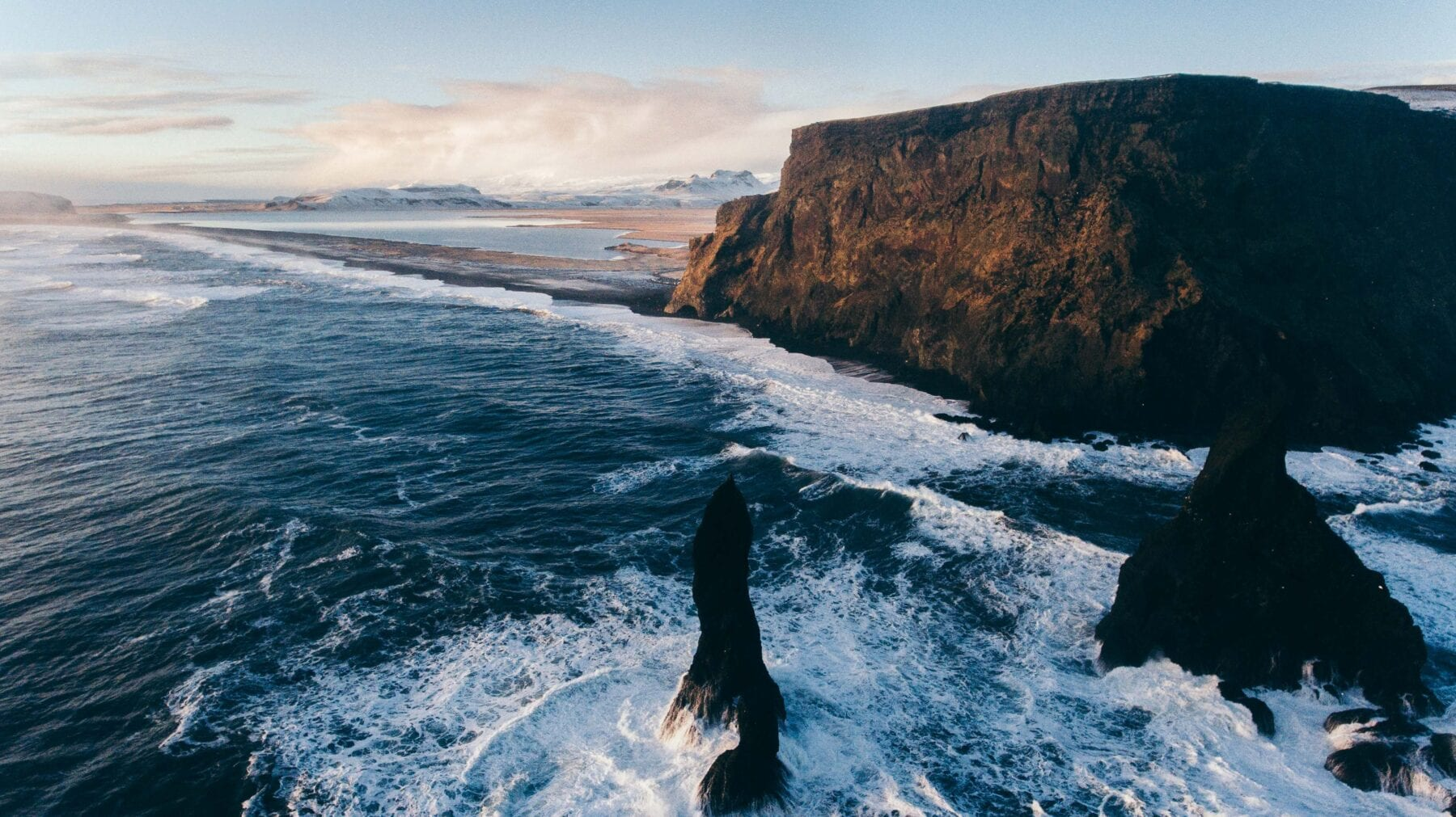 IJsland landschap klif