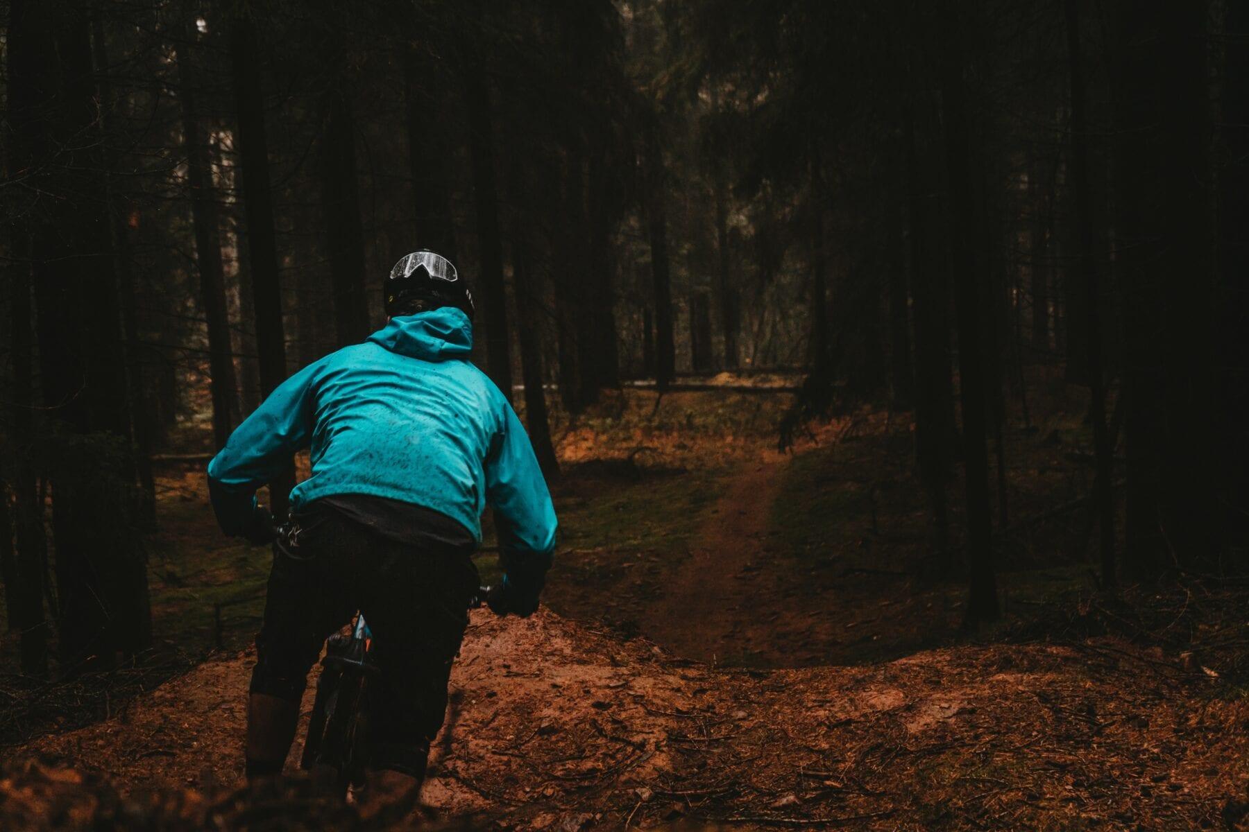 Mountainbike mtb-vignet natuurmonumenten