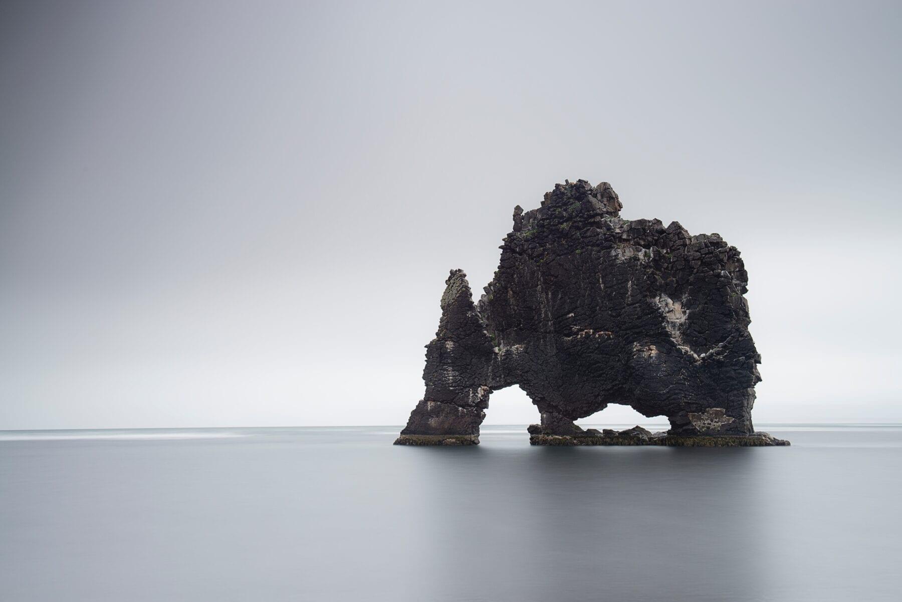 IJsland landshap zee