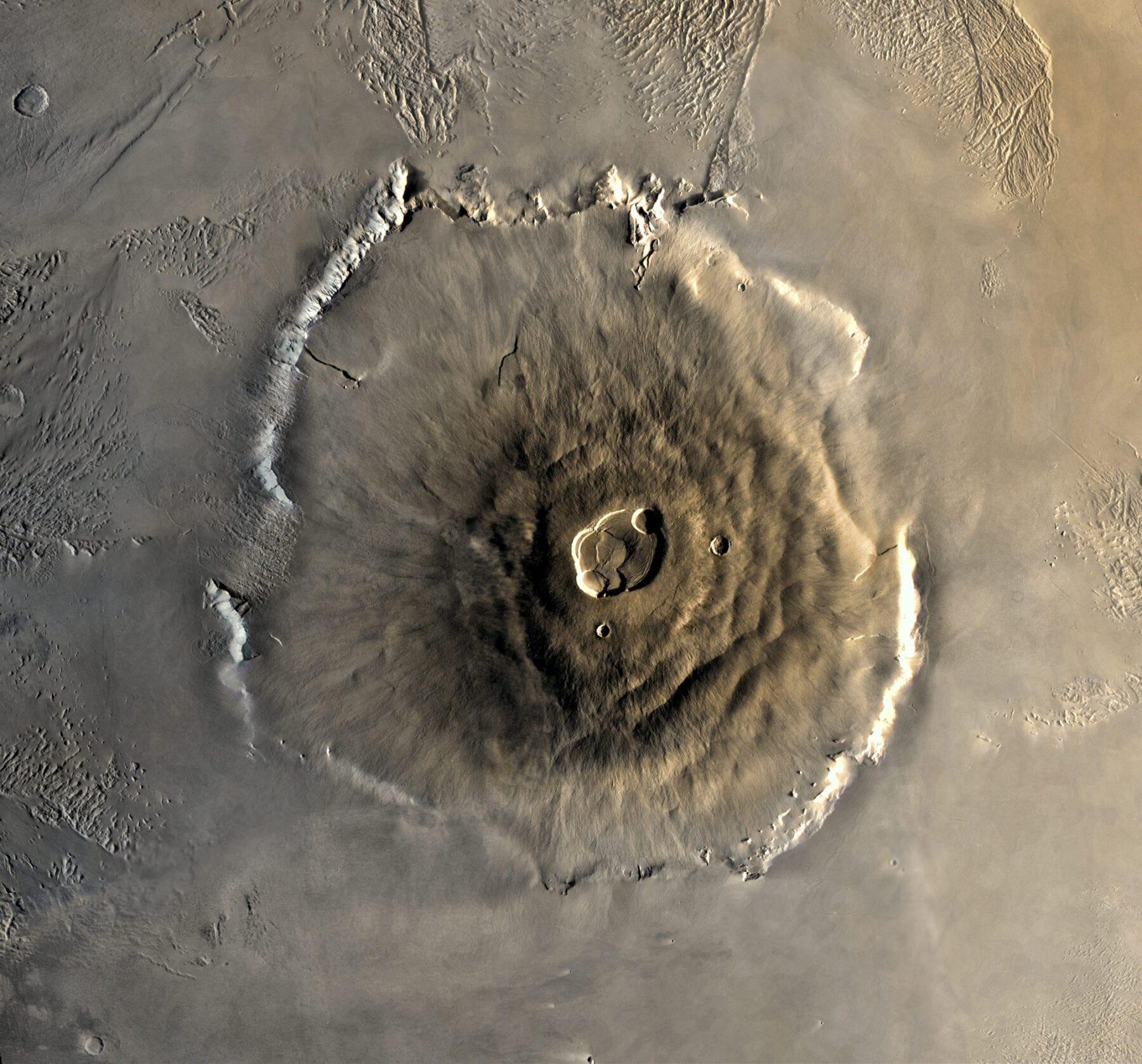 Hoogste berg van het heelal Olympus Mons