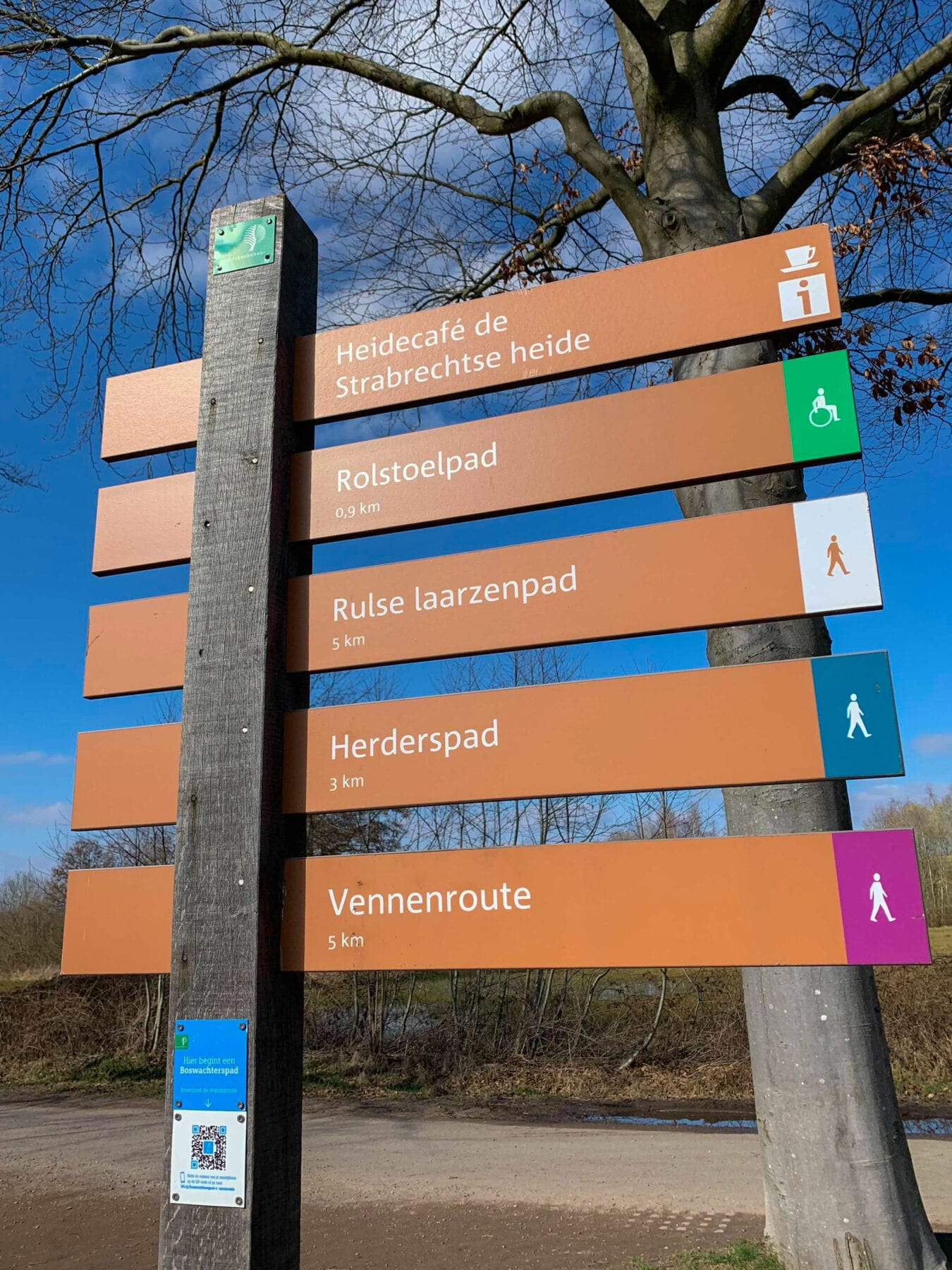 Wandelroutes paal