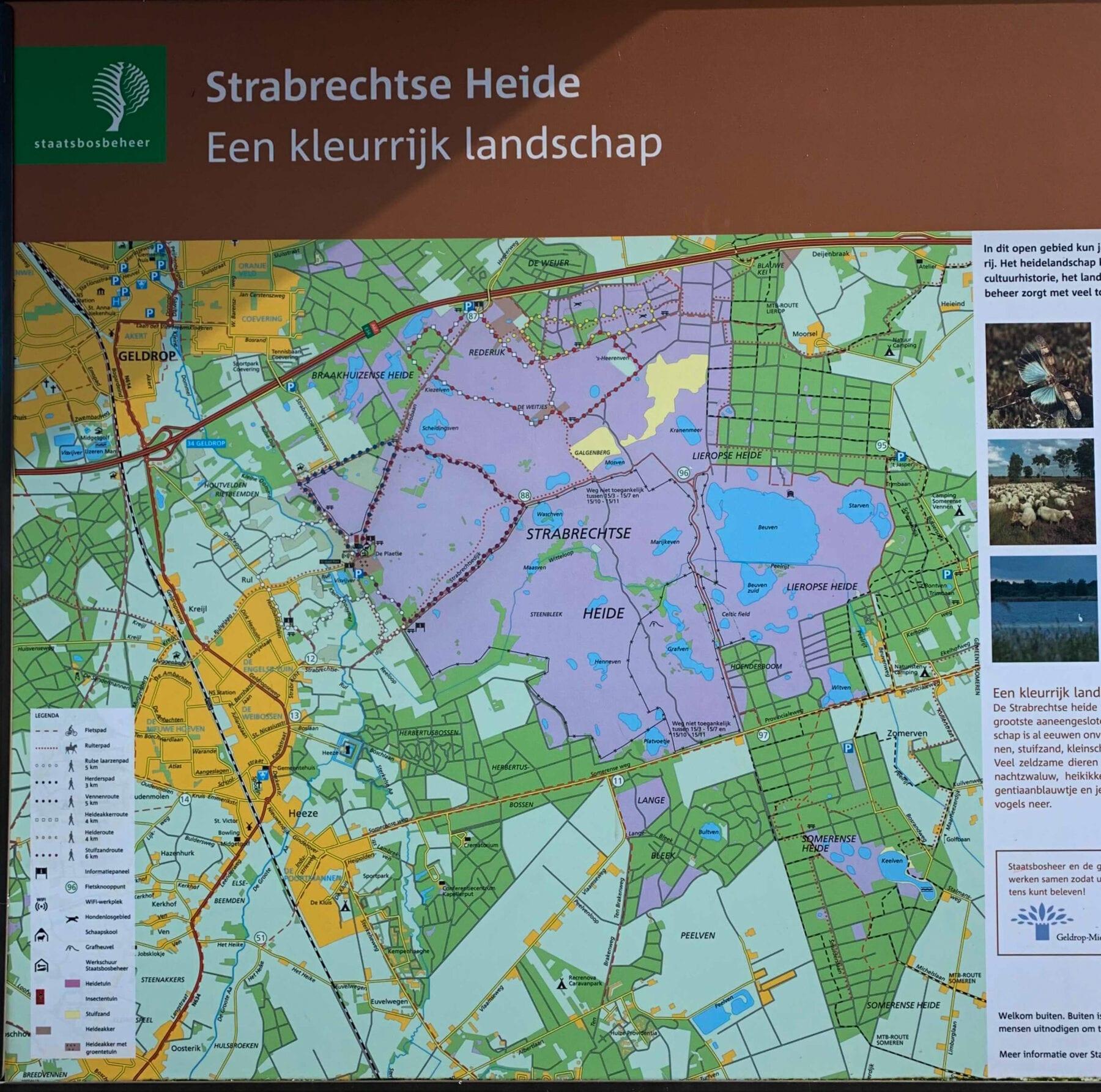 de Strabrechtse Heide Wandelroutes
