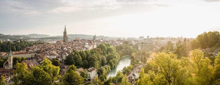 Bern overview stad