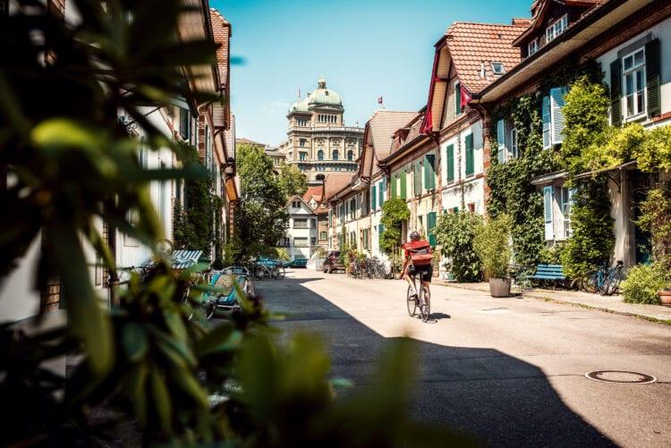 Fietser in Bern