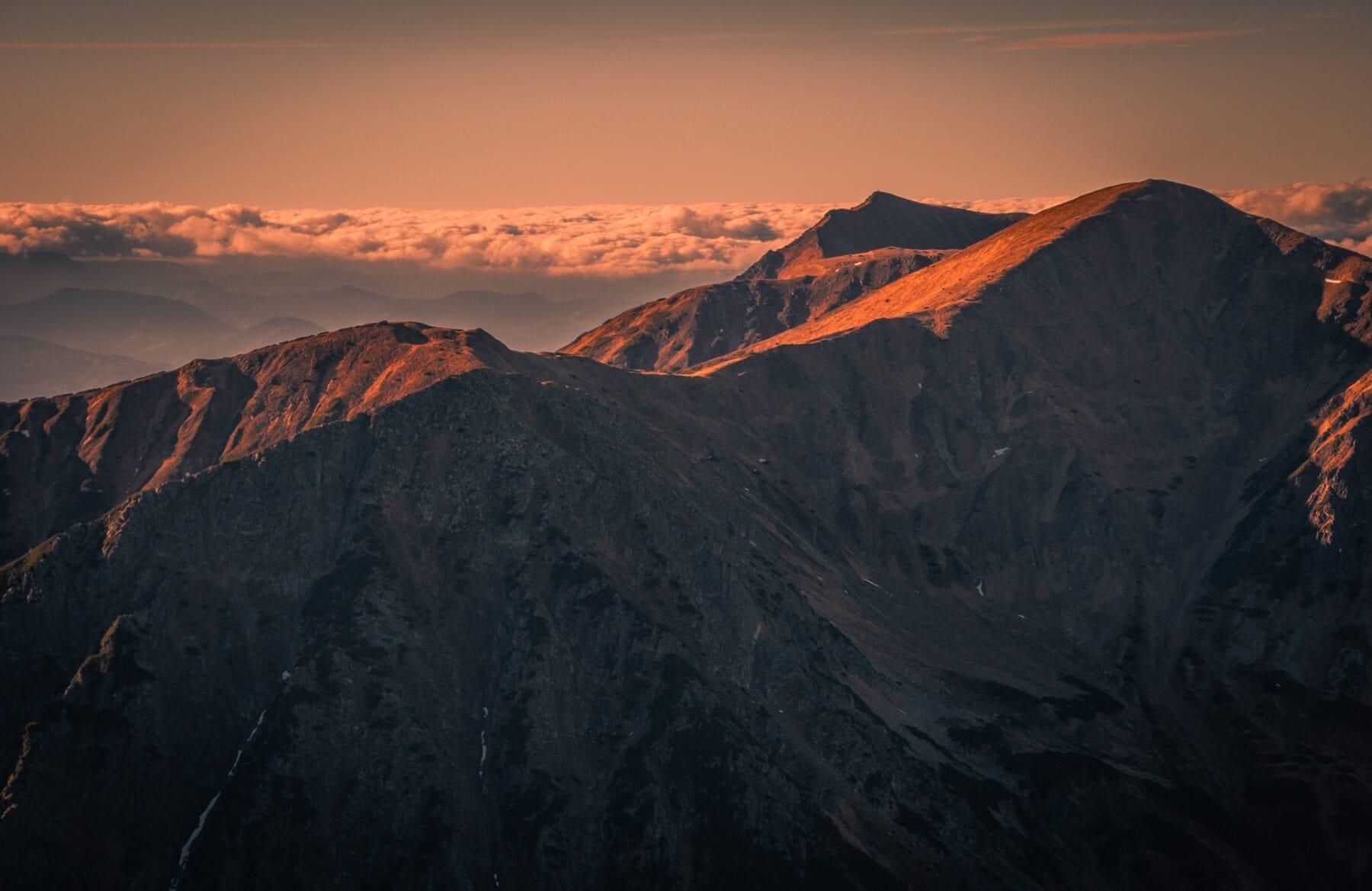 Zonsopgang Tatra gebergte Polen
