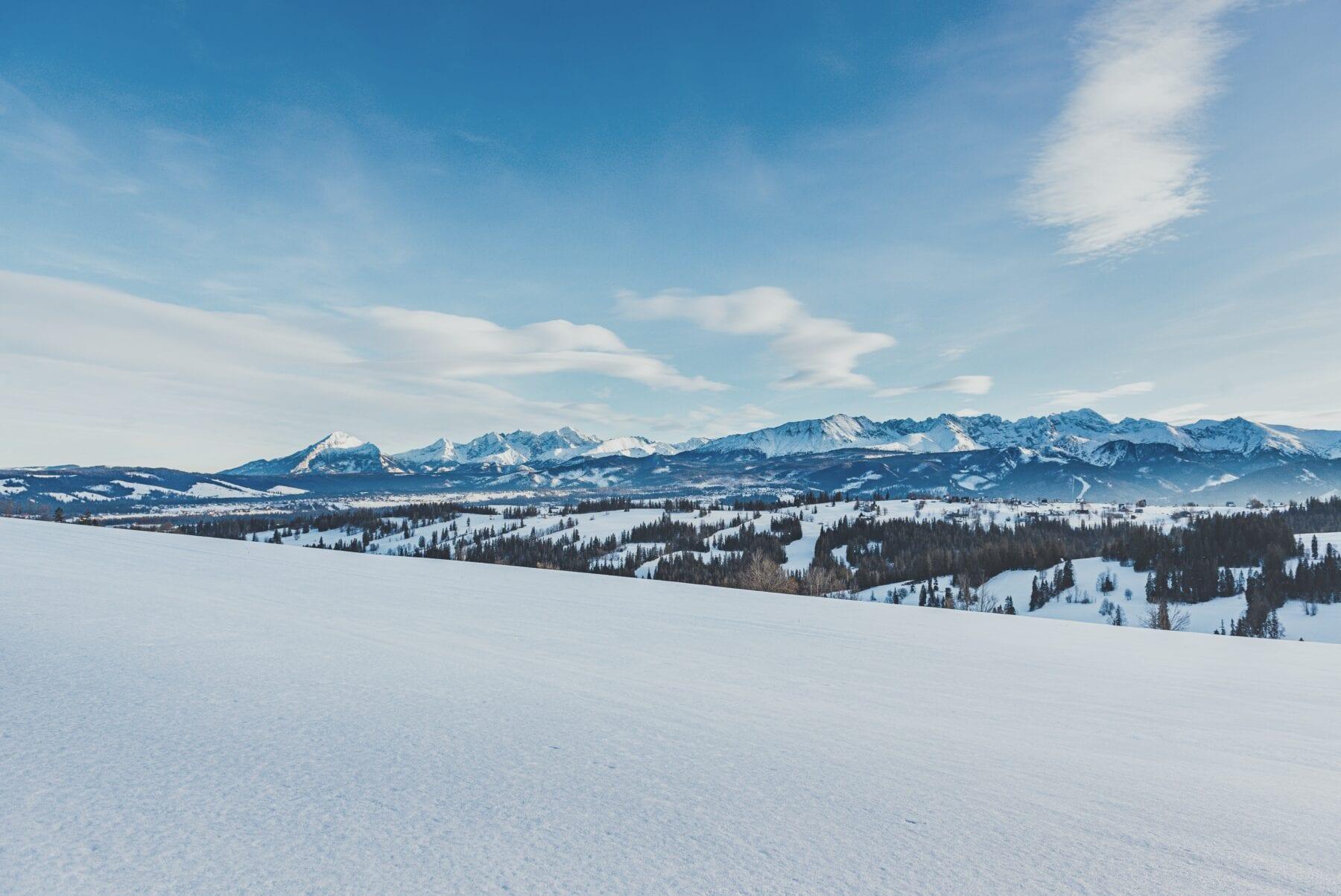 Sneeuw in het Tatra gebergte Polen