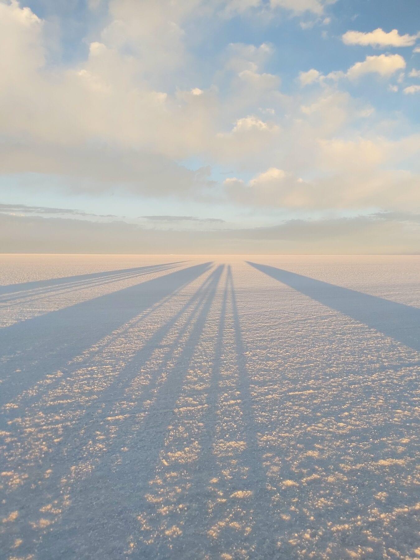 Zonsondergang zoutvlakte Bolivia