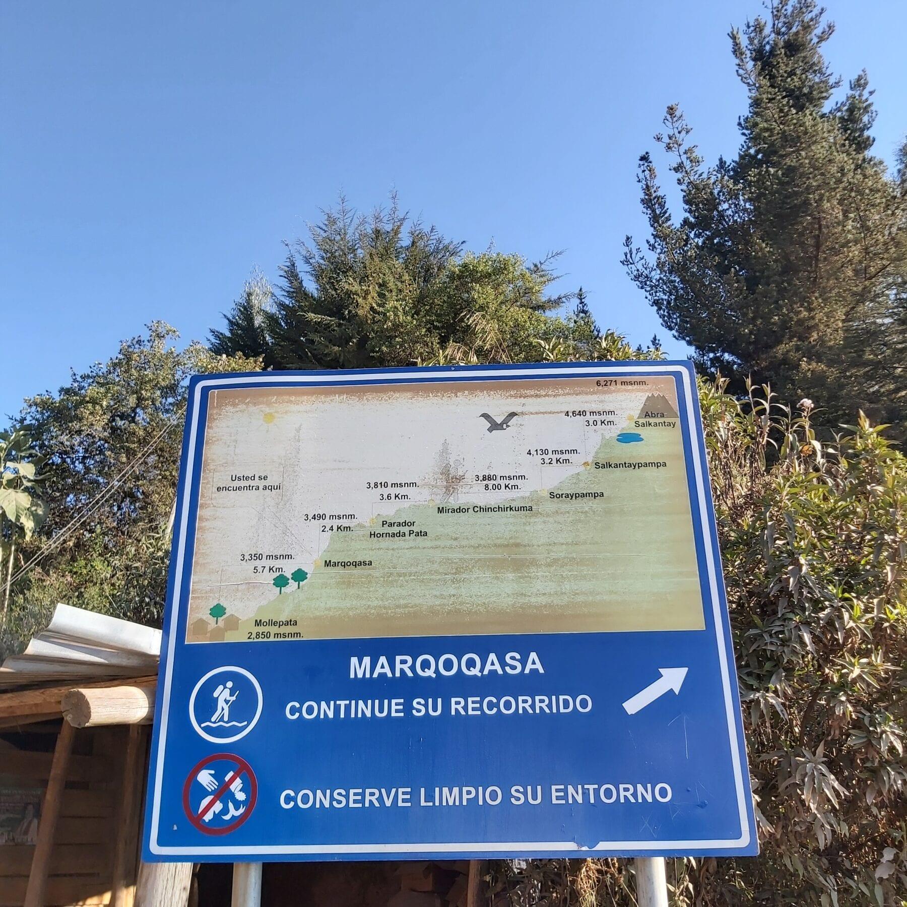 Begin van de Salkantay trek