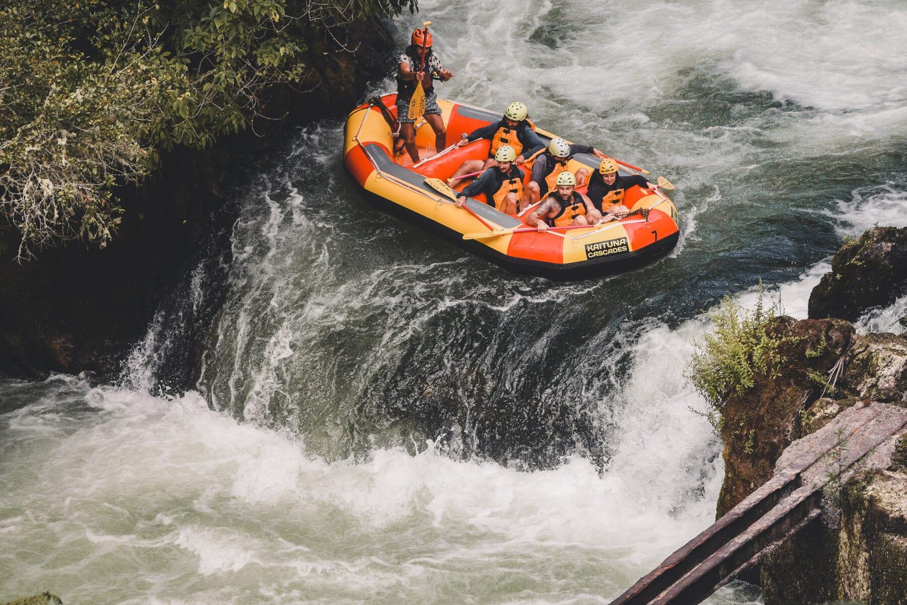 Kaituna rivier Tutea Falls Nieuw Zeeland