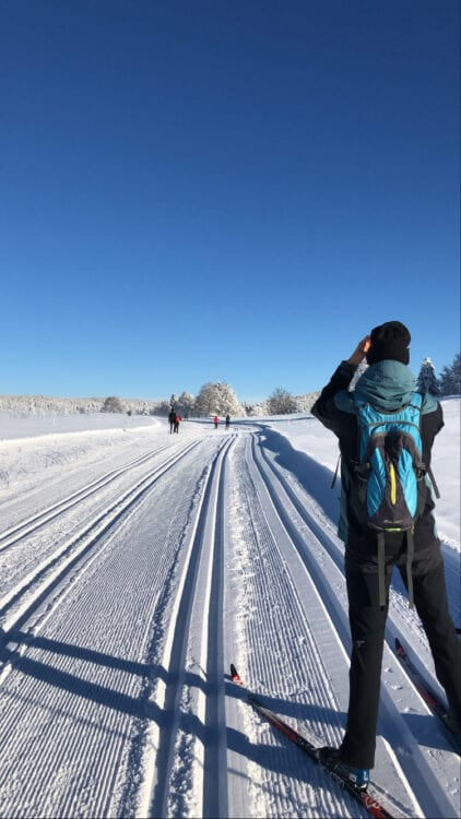 Langlaufen in de Jura foto maken