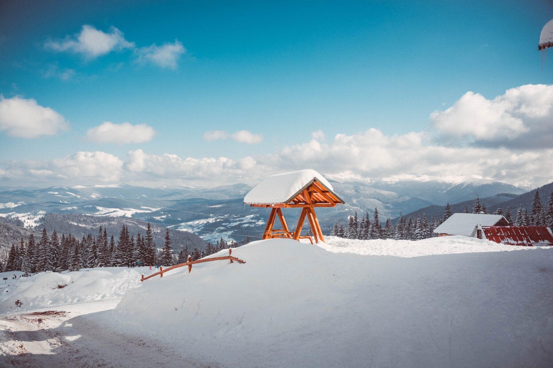 Winter uitzicht Oekraïne