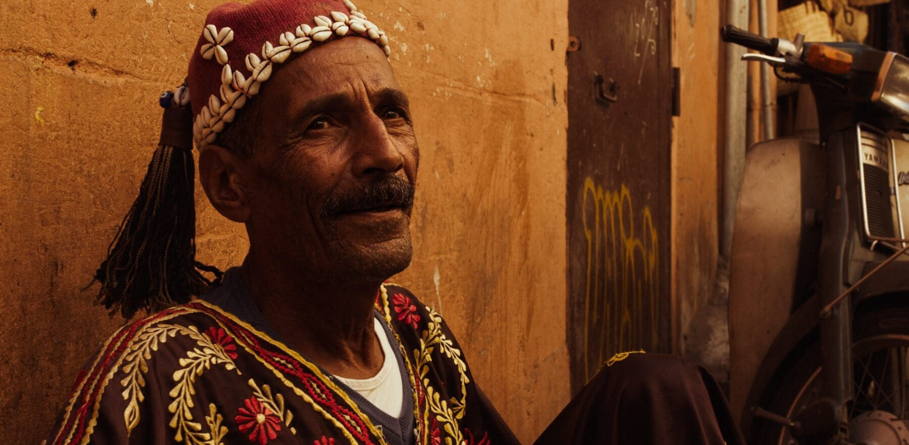 Vriendelijke meneer in Marokko
