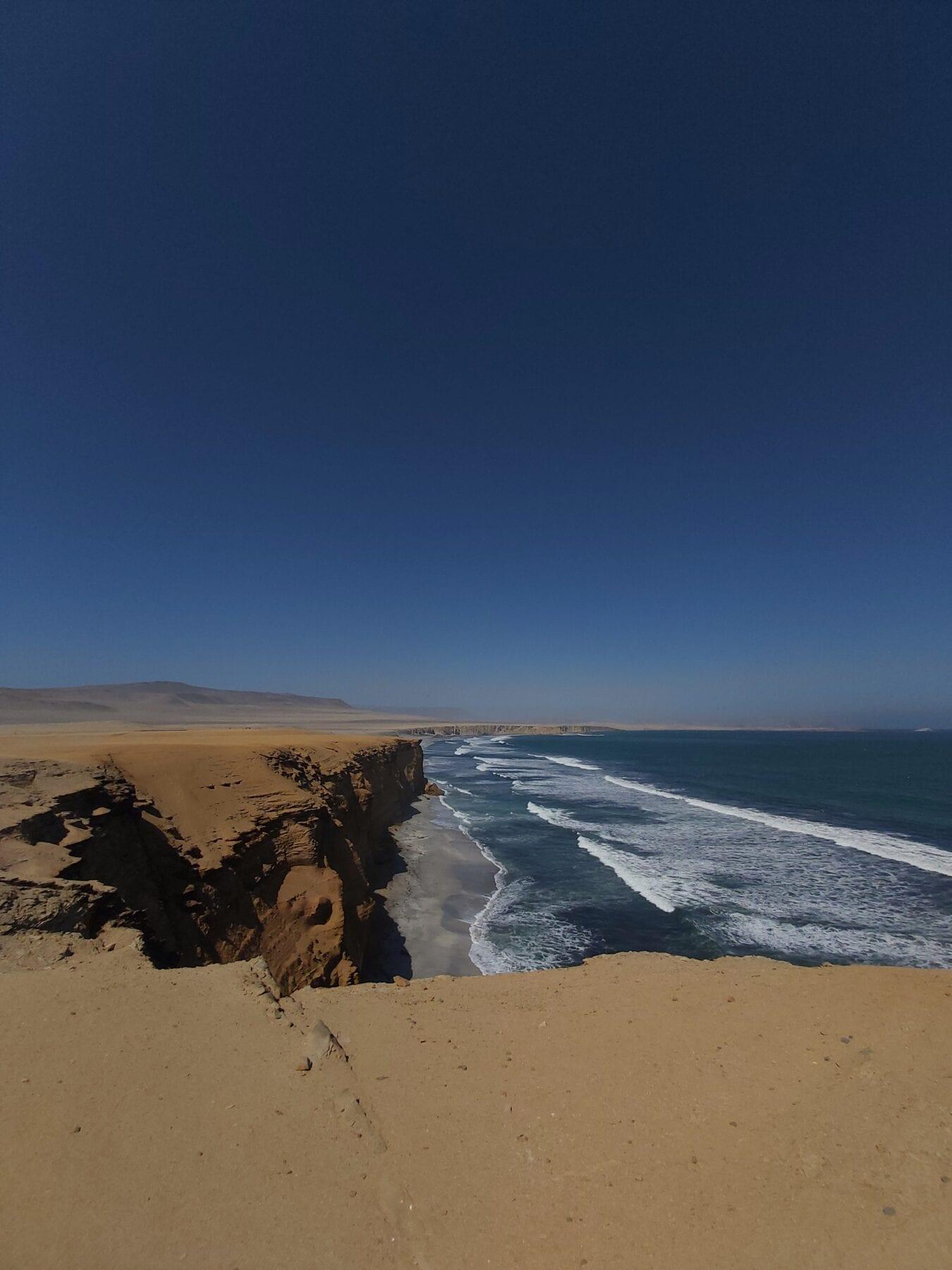 Paracas uitzicht op zee
