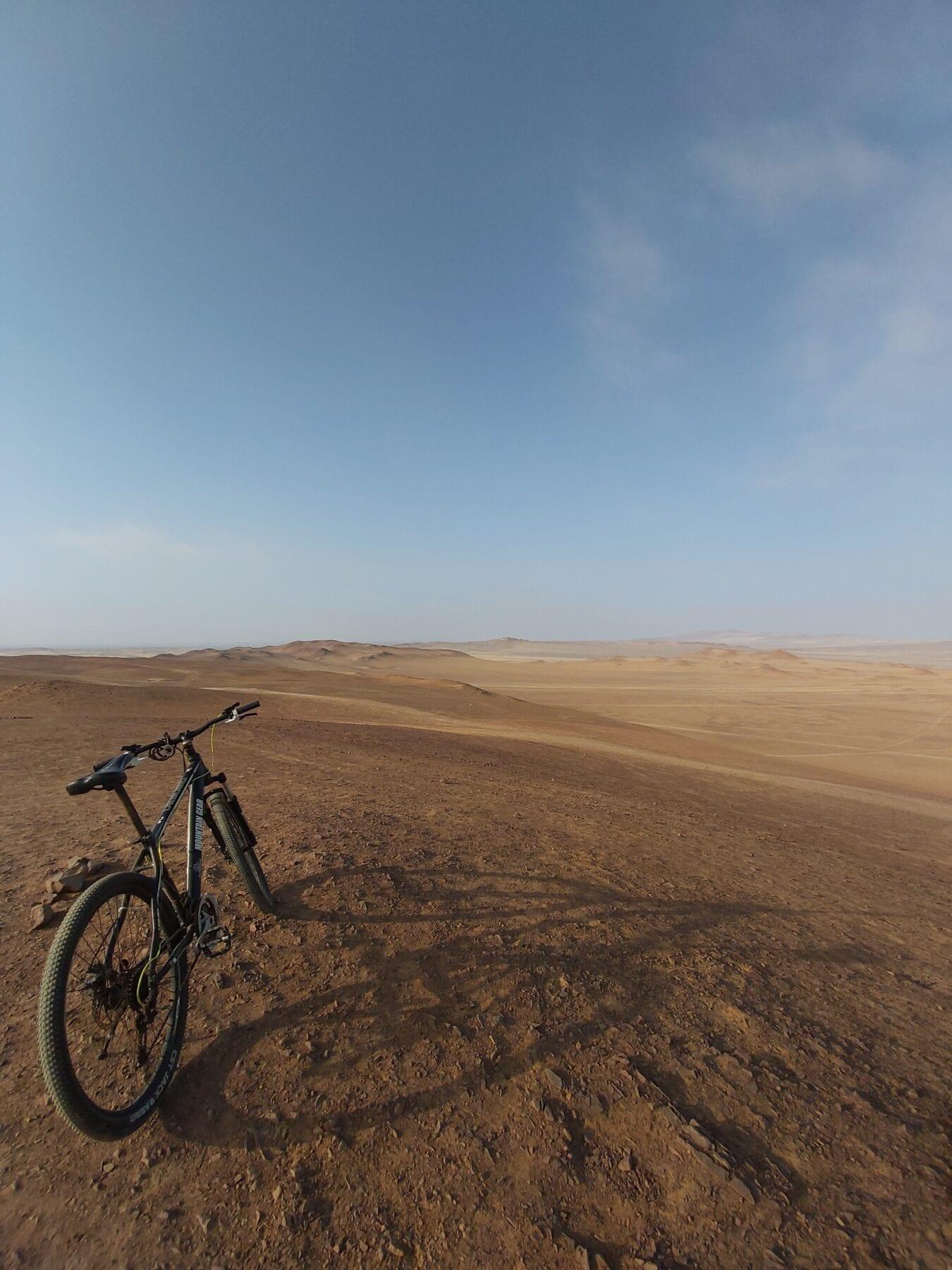 Uitzicht Paracas woestijn