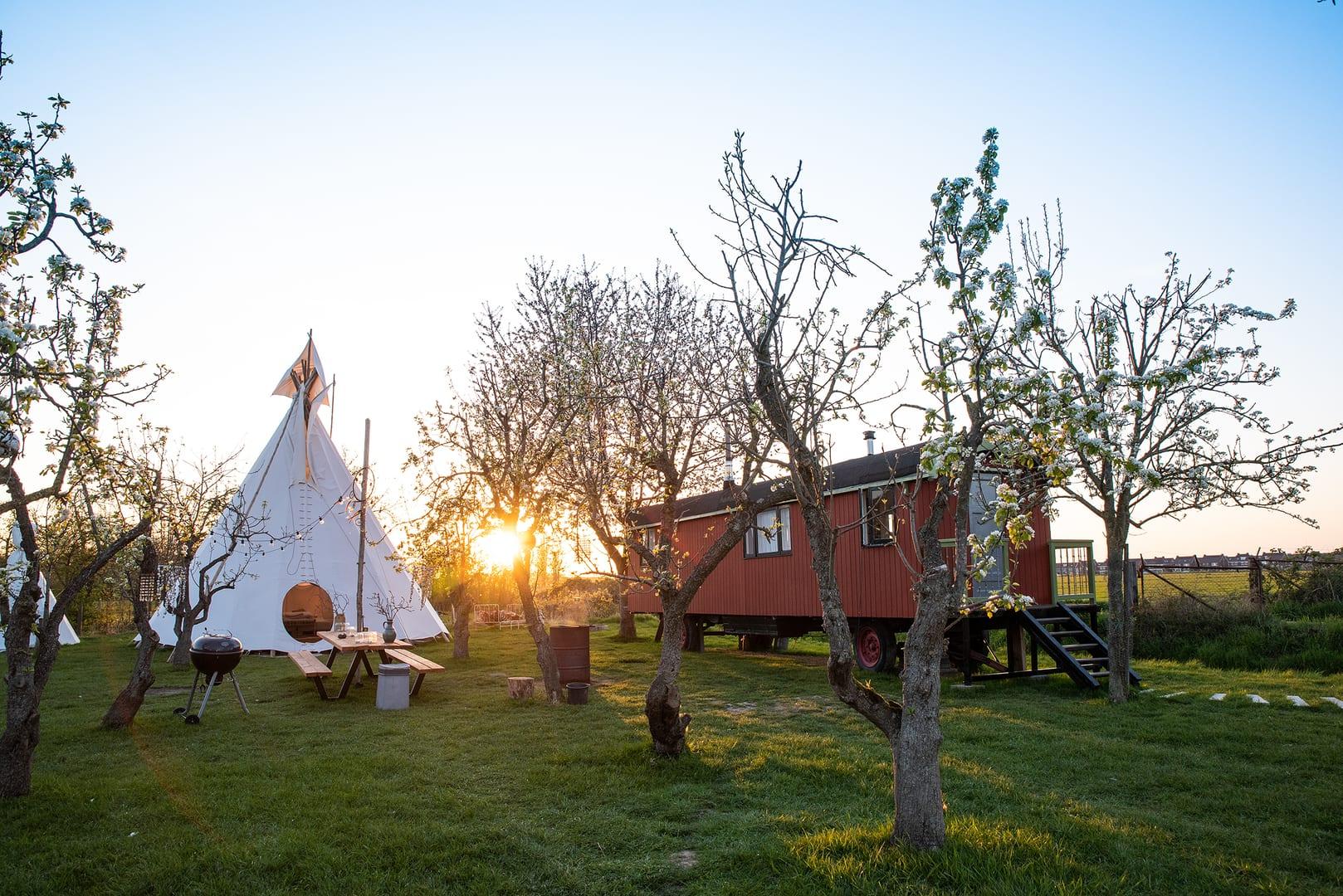 Campspace tipi of pipowagen overnachten