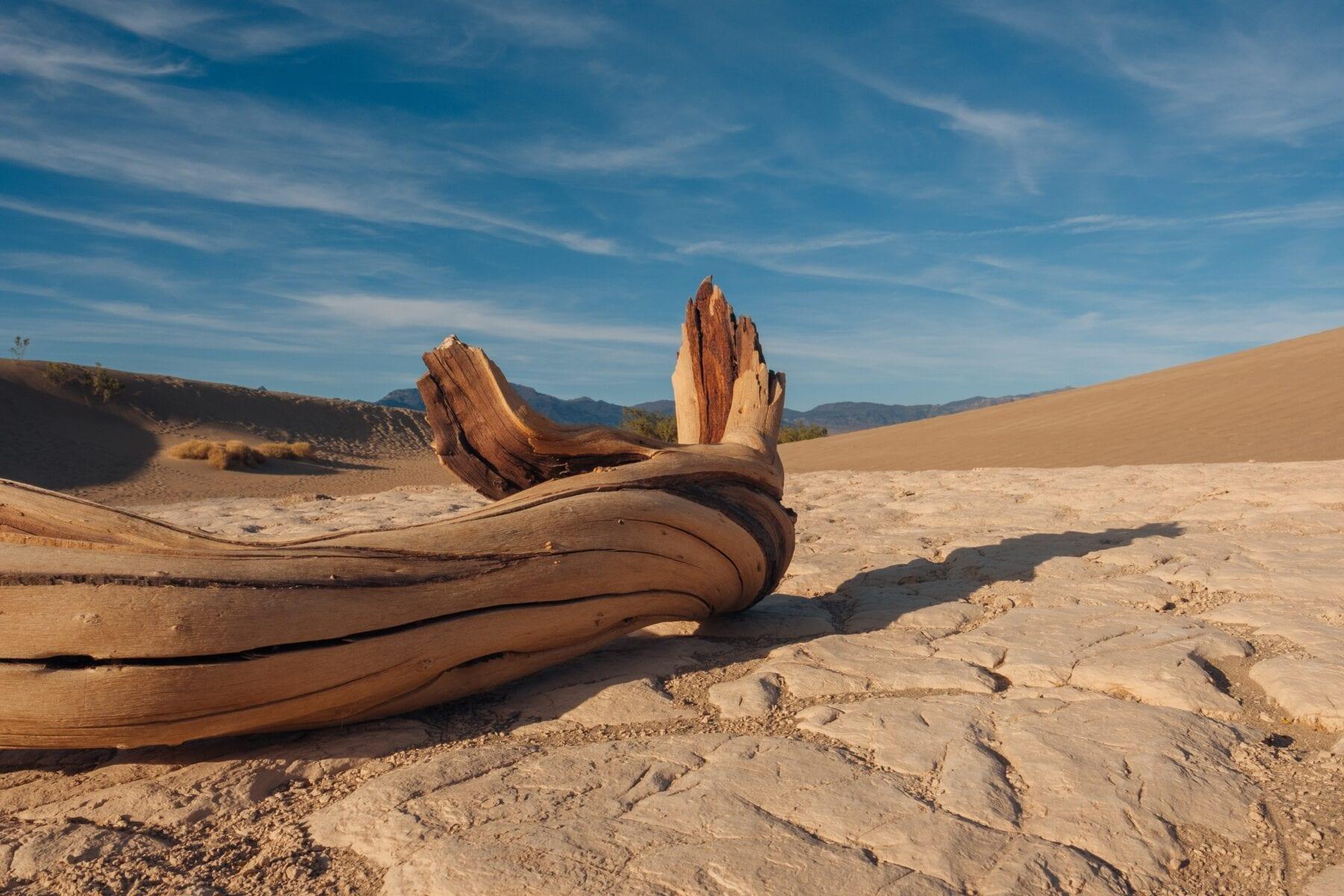 Death Valley, kruipende stenen