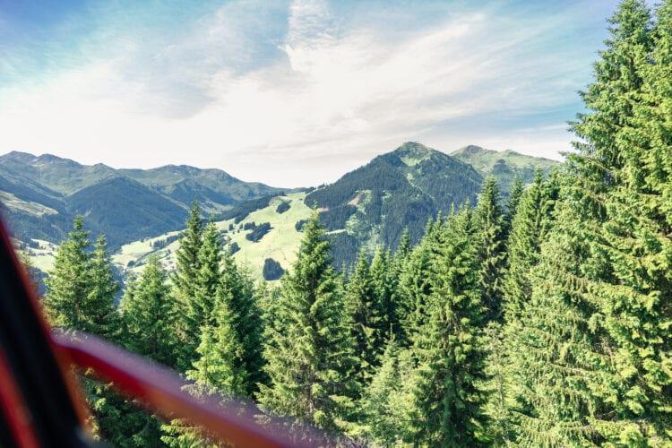 Reiterkogelbahn uitzicht Hochalmspitze Saalbach Hinterglemm