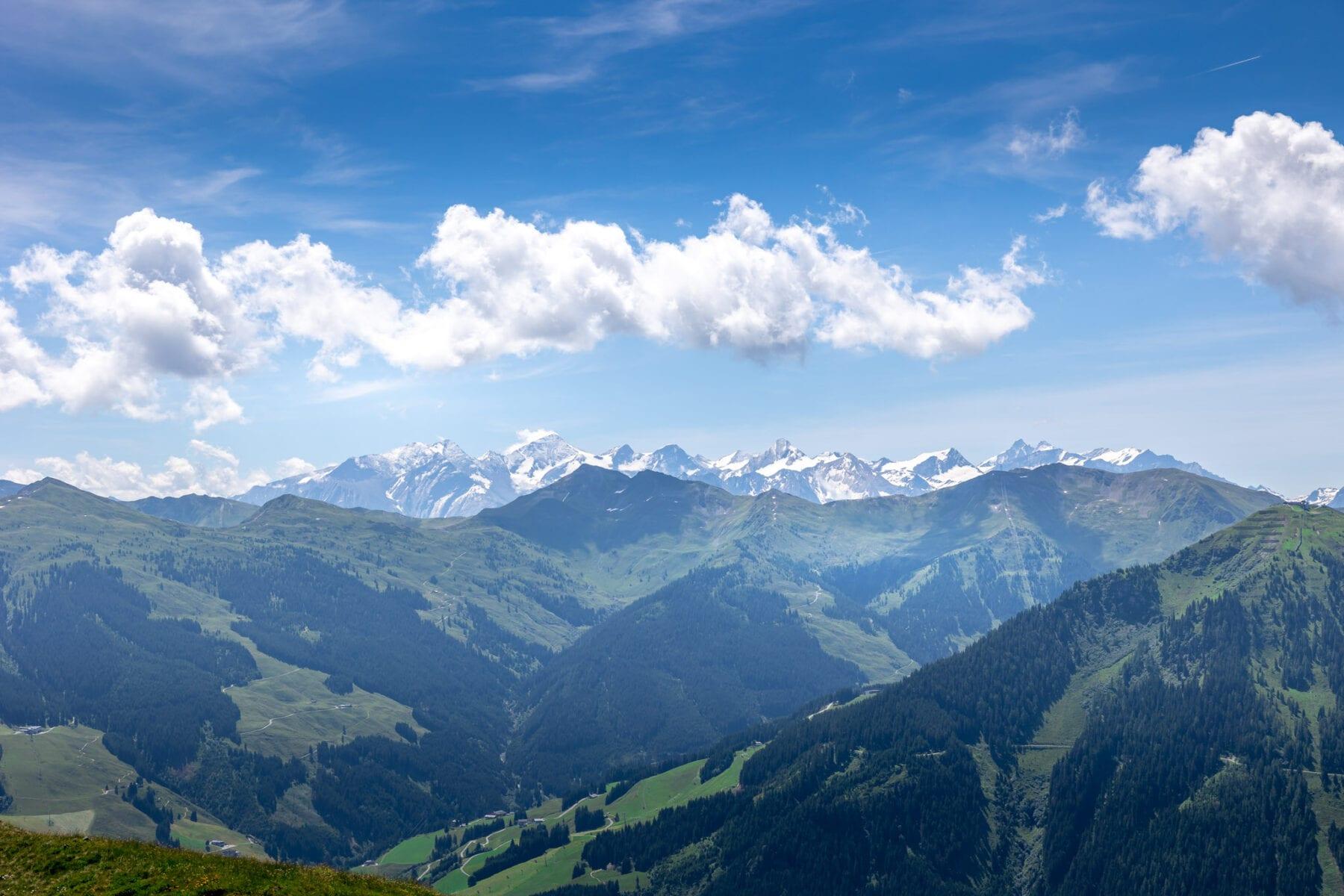 Uitzicht Hochalmspitze Saalbach Hinterglemm