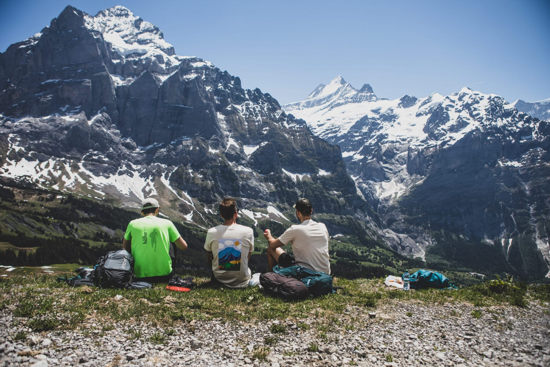 Jungfrau Grindelwald First lunch uitzicht