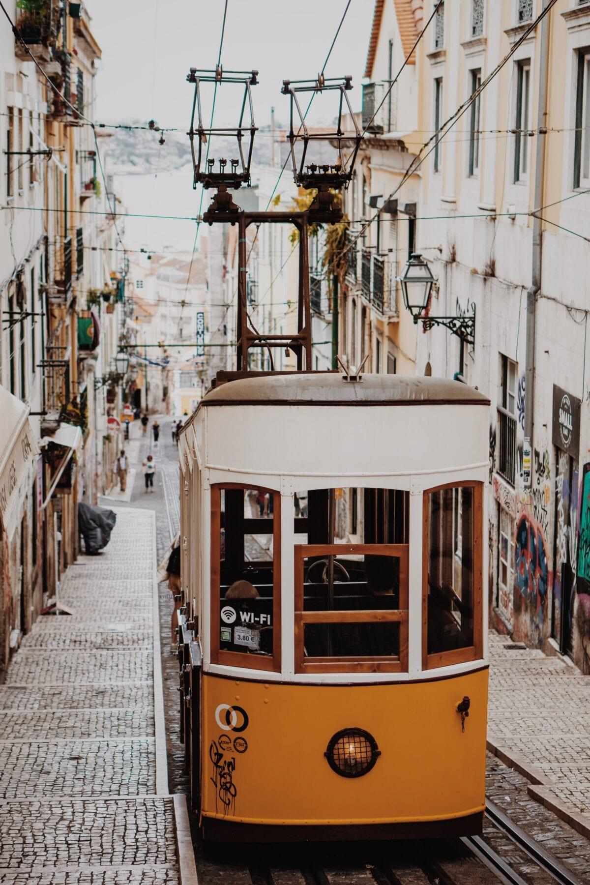 Tram 28 hoofdstad Portugal