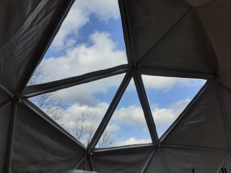 Campspace accommodatie overnachten Geodome Drenthe