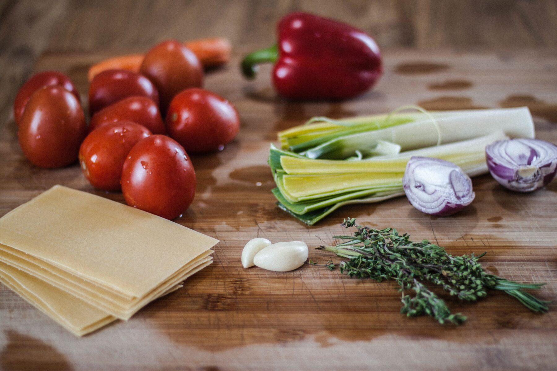 ingrediënten vegan lasagne