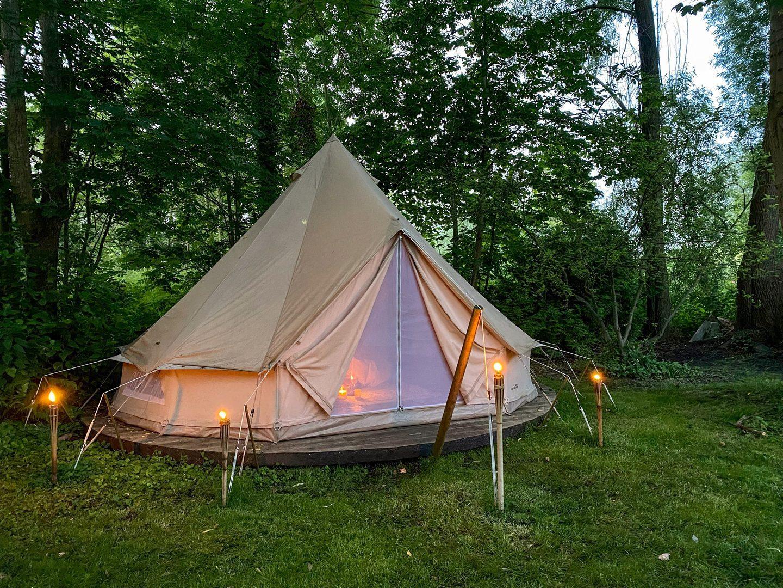 Campspace accommodatie overnachten slapen prive eiland