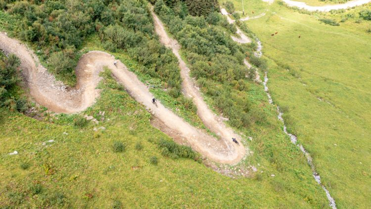 Châtel in de zomer mountainbike bikepark