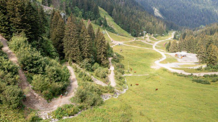 Châtel in de zomer mountainbike
