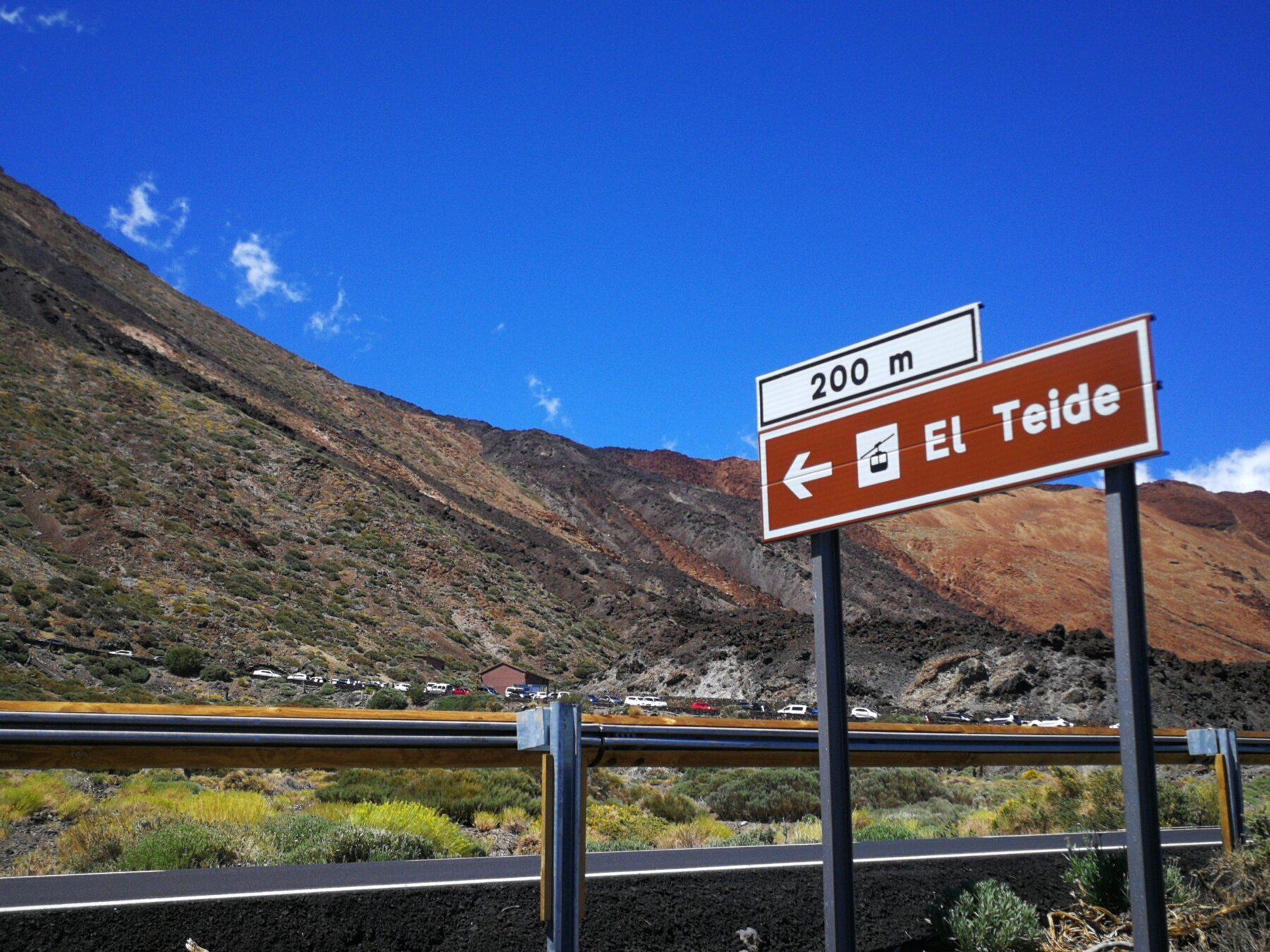 El Teide gondel parkeerplaats