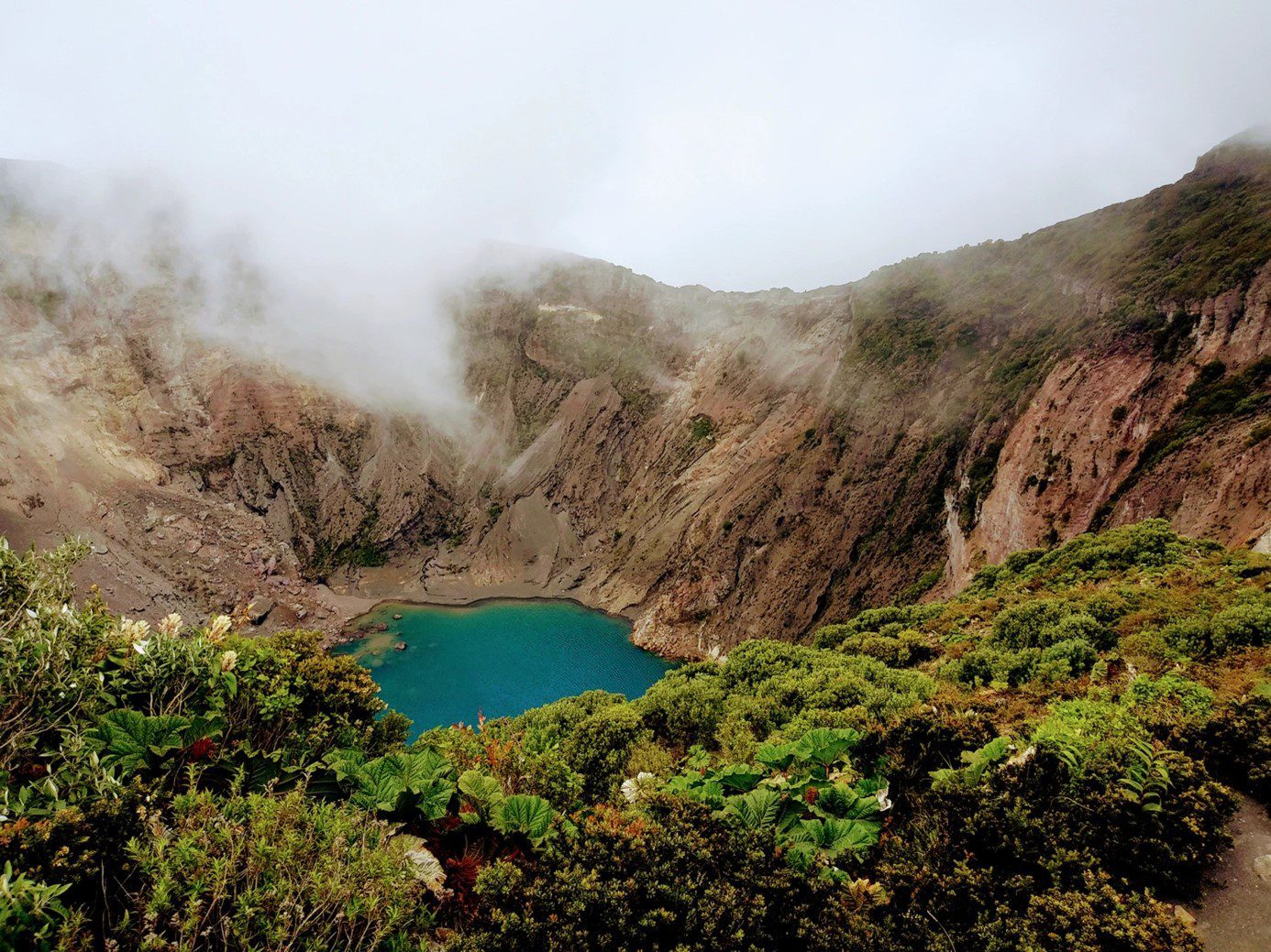 Ongerept Costa Rica meer in bergen