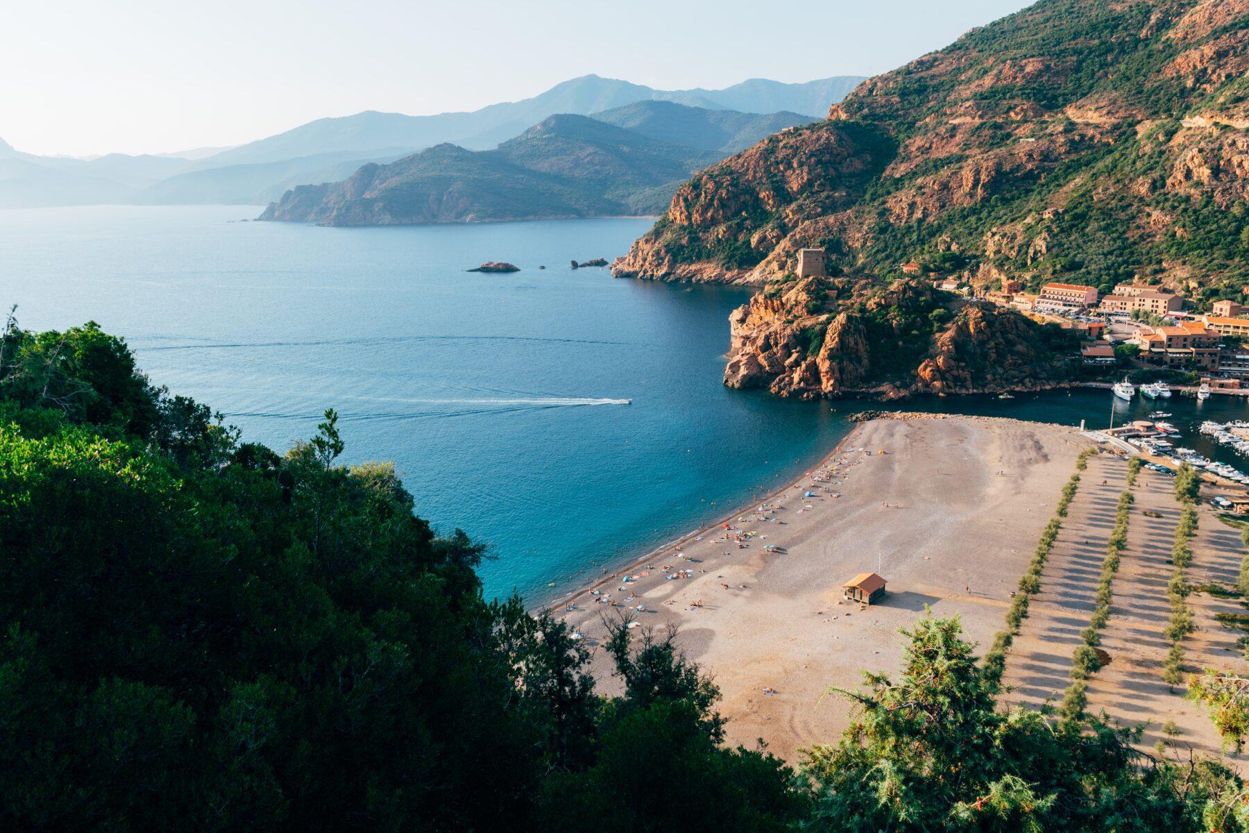Corsica uitzicht water