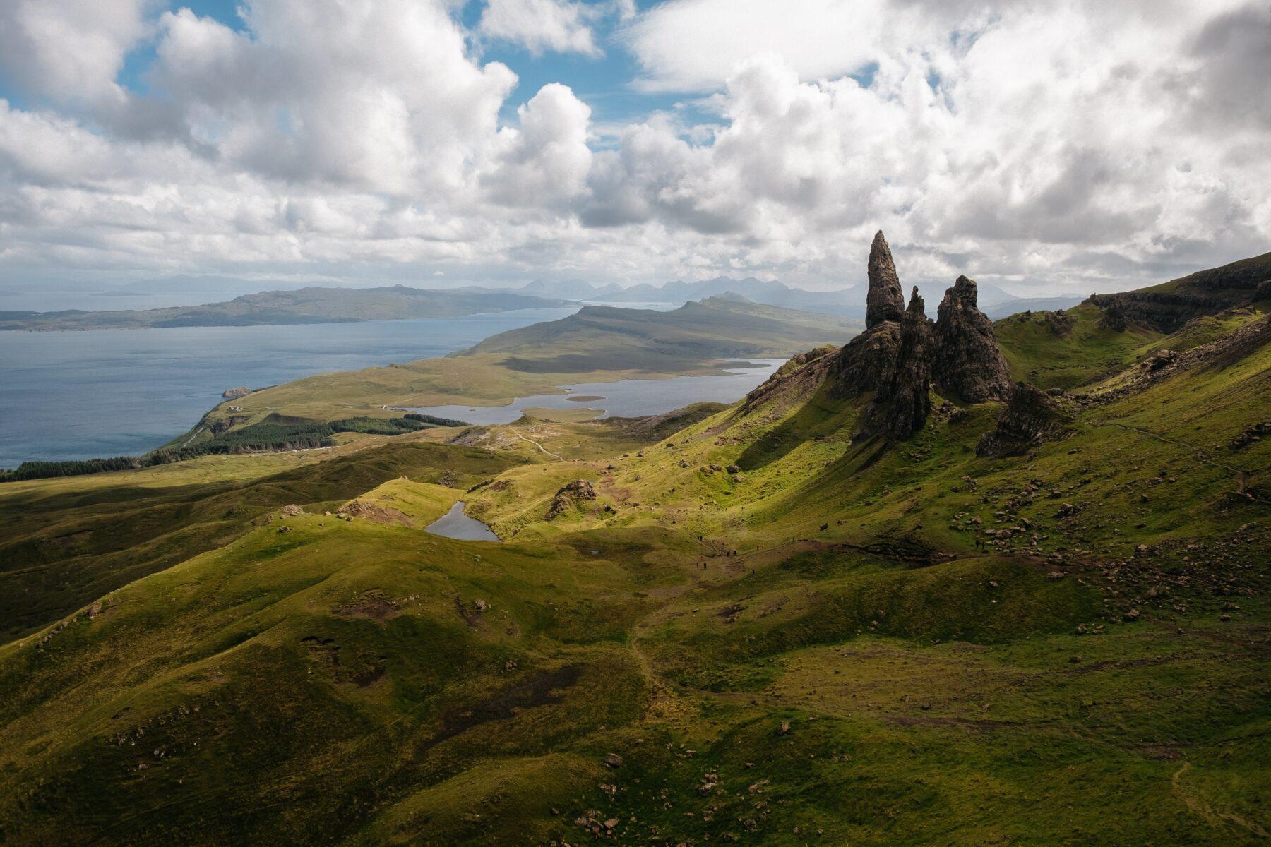 Groen landschap Skye