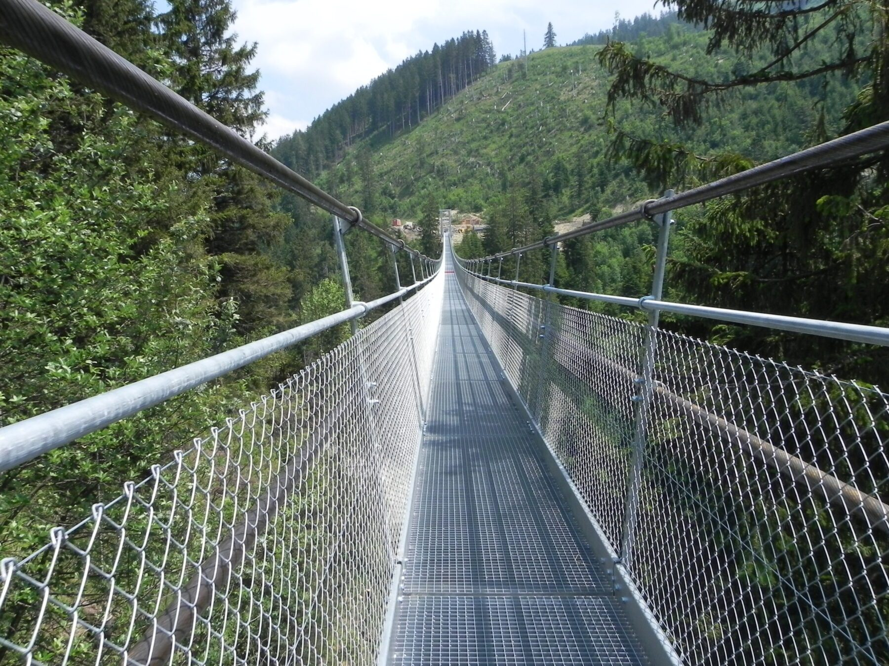 Hangbruggen in Zwitserland