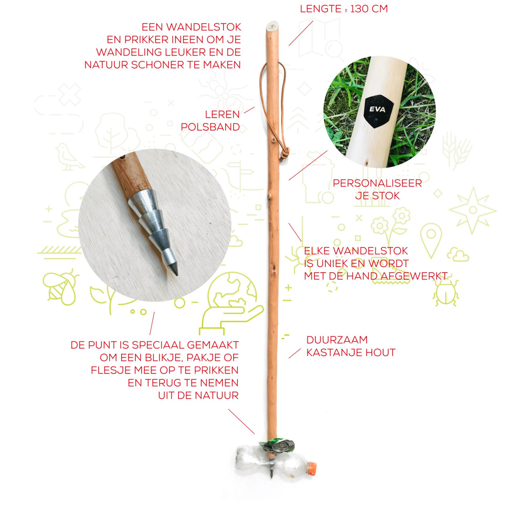 CleanWalk wandelstok